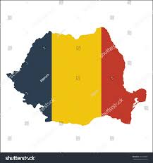 Romania Blank Map by High Resolution Romania Map Country Flag Stock Vector 326150633