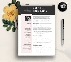 Resume Sample Hk by 2 Page Cv Template Easy To Edit Resume Templates Creative Market