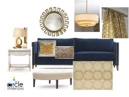 incircle interiors blue u0026 gold living room design board