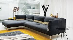 salon canapé canapé d angle en tissu cuir design contemporain côté maison