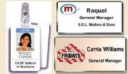 top 3 factors in company name tags name badges