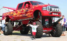 big monster truck videos red