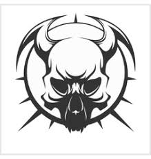 tribal skull vector images 1 300
