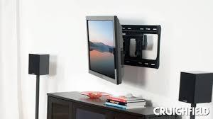 Led Tv Wall Mount With Shelves Tv Wall Mount Basics Crutchfield Video Youtube