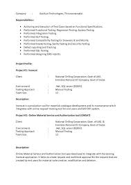1 Year Experience Resume Format For Manual Testing Manual Testing Resume Manual Testing Resume Format Samples Resume
