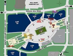 Dallas Cowboys Stadium Map by At U0026t Stadium Area Map With Gate Labels By Texas Tech Athletics