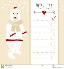 cute christmas card baby shower wish list with polar bear stock