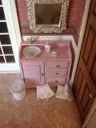 shabby chic bathroom vanities furniture shabby chic bathroom sink vanity miniature 1 12 scale