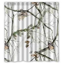 Winter Shower Curtains White Realtree Camo Shower Curtain 66 Inch By 72 Inch