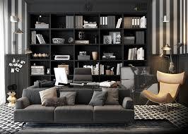 bureau de maison design meubles bureau maison de luxe bibliothèque anthracite et fauteuil