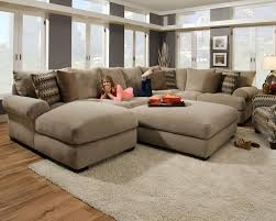 Leather Sectional Couch With Chaise Decor Deep Seat Sectional And Sectional Sofas With Recliners And