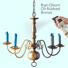 Painting Brass Chandelier Save It With Spray Paint