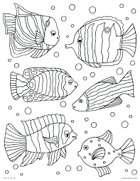 tropical coloring pages printable x coloringtropical fish