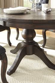dark brown round kitchen table trudell dark brown round extendable pedestal dining table from