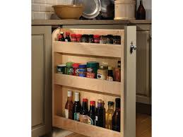 base pull out spice rack cabinet kitchen storage wood mode small