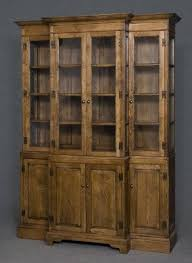 Break Front Bookcase Breakfront Bookcase In Solid Oak Large Traditional Period Style