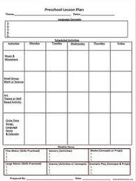 printable lesson plan template nuttin u0027 but preschool ms caity u0027s