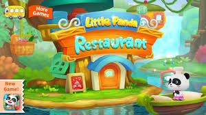 little panda restaurant by baby bus game for kids free download