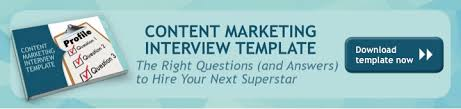 interview questions u0026 answers for content marketing template