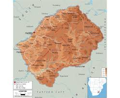 Physical Map Africa by Maps Of Lesotho Detailed Map Of Lesotho In English Tourist Map