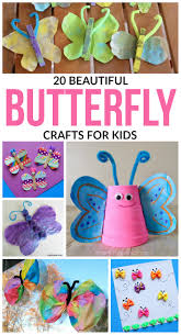 20 beautiful butterfly crafts for kids a crafty spoonful