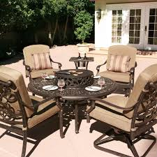 Patio Set With Firepit Table by Enjoy Summer Night With Firepit Patio Set U2014 Amazing Homes