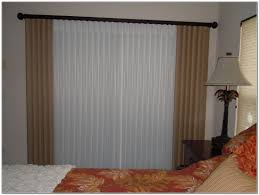 sliding glass door curtains over blinds curtains home design