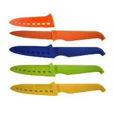 rachael ray 4 inch non stick paring knife set with blade guard by