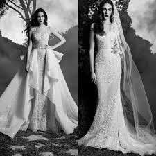 dh wedding dresses beautiful 2016 zuhair murad lace wedding dresses with overskirt v
