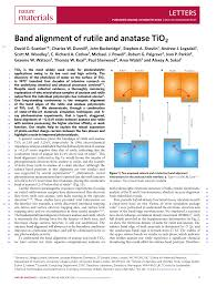 band alignment of rutile and anatase tio2 pdf download available