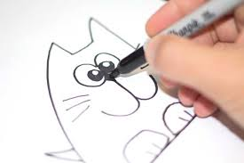 draw cute cat face drawing free download clip art free clip art