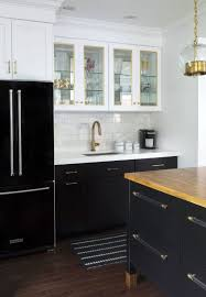 Kitchen Cabinets Black And White Modern Kitchen And White Kitchen Cabinets With Black Granite