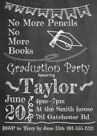 Graduation Invitations Cards Chalkboard Graduation Invitations Kawaiitheo Com