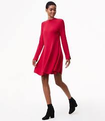 mock neck swing sweater dress loft