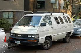 toyota old old parked cars 1987 toyota 4wd van