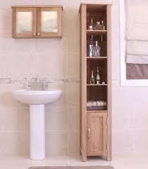 bathroom tall storage cabinet mobel solid oak furniture tall bathroom storage cabinet ebay