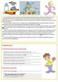 healthy living worksheets worksheets