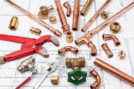 Home Plans Plumbing Tools Arranged On House Plans Whit Wrench And Pipe Cutter