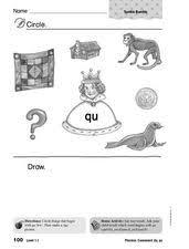 phonics qu 1st grade worksheet lesson planet