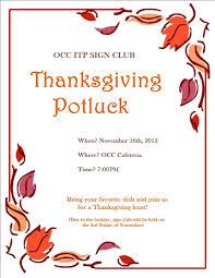 thanksgiving potluck invitation templates free cogimbo us