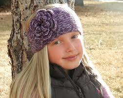 crochet flower headband crochet headband etsy