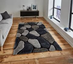 shaggy rug super soft noble house hand tufted 3d pebble home décor