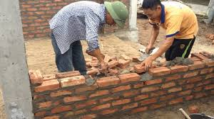 build a house building house step by step build a wall using brick terracotta