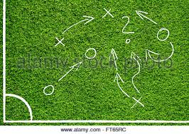 hand drawn sketch style soccer field or football field with