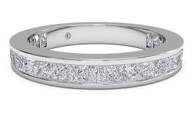 eternity wedding ring s channel set princess eternity wedding ring in