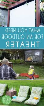 Backyard Theater Ideas Best 25 Outdoor Theaters Ideas On Pinterest Backyard
