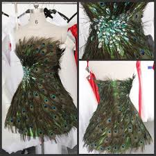 nanjing peacock feather dress at from wedding expo china 4 big