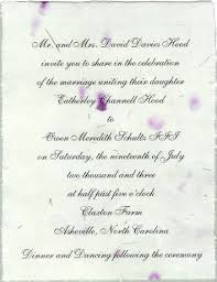 wedding wishes exles wedding invitations from handmade paper wedding invitations