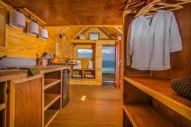 monarch half half tiny home interior closet space inhabitat