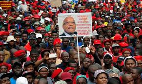 south opposition protests zuma who celebrates 75th news ok
